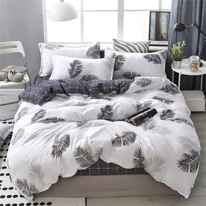 Wholesale silver king size comforter set resale online - Lanke Cotton Bedding Sets Home Textile Twin King Queen Size Bed Set Bedclothes with Bed Sheet Comforter set Pillow case