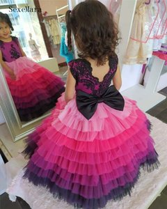 Wholesale dance girl vest resale online - Cute Tulles Princess Ball Gowns for Wedding Party Little Kids Flower Girls Dresses Puffy Tulle Skirt Sleeveless Dancing Dresses