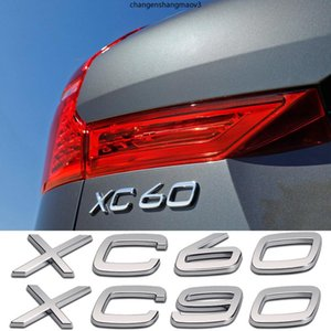 Wholesale tail trim resale online - For Volvo XC60 XC90 Rear Trunk Letters Sticker D ABS Badge Trim Decor Accessories Auto Tail Word Nameplate Car Tuning