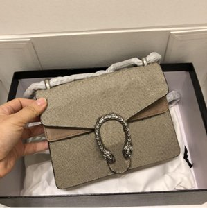 Wholesale zipper heads resale online - Womens Classic Single Shoulder Chain Bag Dionysuss Canvas Tiger Head Closure Chain Fap Bag Mini Size Handbags Purse