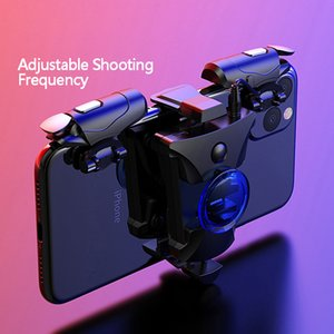 Wholesale joystick buttons resale online - Mobile Gamepad Alloy Joystick Smartphone Gaming Controller For Iphone Android PUBG Gamepad Shooter Trigger Button Control Handle Y1123
