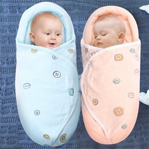 Wholesale newborn flat head for sale - Group buy Neck protection swaddle babies anti shock sleeping bag Newborn baby care flat head pillow blanket swaddles cotton wrap Y201009