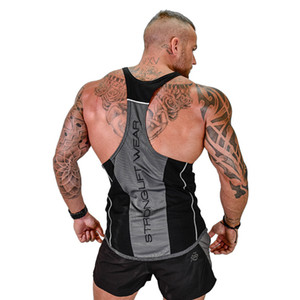 Active Mens Tank Top Gyms Fitness Bodybuilding Sleeveless Shirt Muscle Male Cotton Crossfit Clothing Casual Singlet Vest Undershirt
