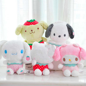 Wholesale my melody for sale - Group buy 1pc Lovely Cartoon Strawberry My Melody Pudding Cinnamoroll Dog Plush Doll Pillow Cute Stuffed Plush Toys Gift
