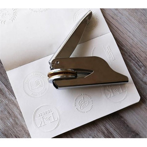Customized Library Book Invitation Embosser Embossing Notary Seal for Personalized Motto Stamp Make Your Q1114