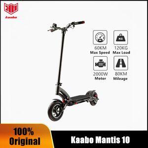 Original Kaabo Mantis 10 dual motor e-scooter 2000W Samsung LG battery 60V 24.5Ah electric scooter two wheel foldable skateboard