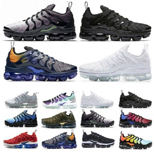 Wholesale violet shoes resale online - 2020 PLUS Run Utility tn Mens Womens MOC FLY KNIT Running Shoes Trainers tns Outdoors Sports Sneakers Eur Violet Spirit Teal B6qO