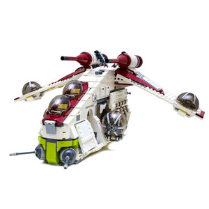 Shipping from U.S. warehouse 05041 Planet Series Republic Gunship Building Blocks Toys Christmas gift Comptible 75021