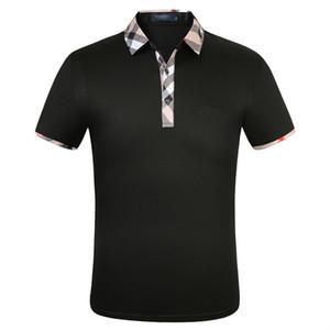 Fashion Designer Shirts Men short sleeve T-shirt original single Lapel shirt men's jacket sportswear jogging suit NO.PPS