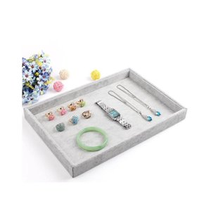 Wholesale jewelry display box tray resale online - Fashion Gray Jewelry Display Tray Bracelet Holder Ring Earring Case Necklace Pendant Shelf Jewelry Display Storage Box Zuybb