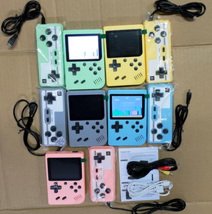 Wholesale design video games for sale - Group buy Mini Doubles Handheld Game Console Retro Portable Video Game Console Can Store in Games Bit Inch Colorful LCD Cradle Design Good