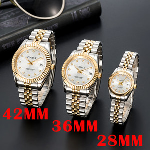 Wholesale automatics watches resale online - orologio di lusso mens automatic gold Mechanical Watches women dress full Stainless steel Sapphire waterproof Luminous Couples Wristwatches