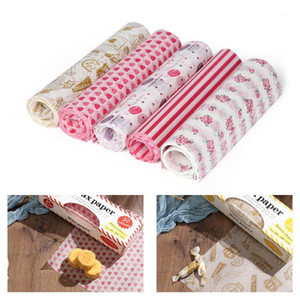 Wholesale wax papers resale online - 50PCS Set Packing Paper Waterproof Wax Paper Cake Cookie Baking Sheet Packaging1