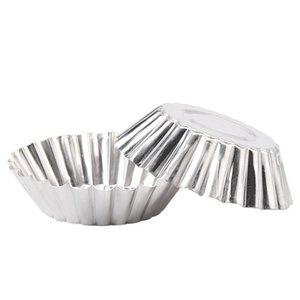 Wholesale ceramic pie resale online - NEW cm Diameter Tinplate Cake Muffin Fruit Egg Tart Mold Non Stick Pie Pan Bakeware DHC1968