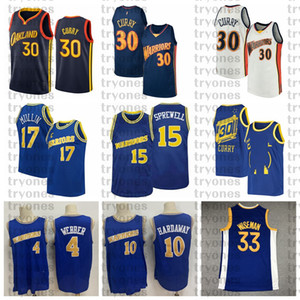 Wholesale curry 4 resale online - NCAA Stephen Curry James Wiseman Vintage Tim Hardaway Chris Webber Chris Mullin Latrell Sprewell Basketball Jersey College
