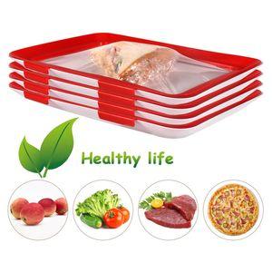 Vacuum Preservation Tray Vacuum Fresh-keeping Tray Food Sealed Crisper Vacuum Crisper Storage Container Creative Healthy Food