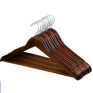 Wholesale seal coat resale online - wooden Clothes hangers Outdoor Drying Rack clothing coat closet organizer Clothes Closet Hangers Drying Rack LJJK1796