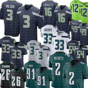 Wholesale green mile resale online - 3 Russell Wilson Tyler Lockett Jersey Jalen Hurts Miles Sanders Jersey Seattle Tyler Lockett Jamal Adams Fan s Fletcher Cox