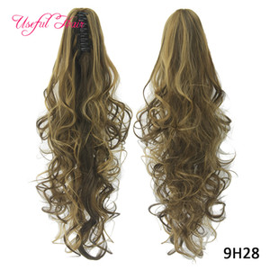 long ponytails Synthetic Ponytails Long Curly Claw Ponytail Clip In Hair Extensions Hairpiece Pony Tail Synthetic High Quality Wholesale