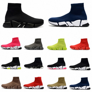 yeni stiller ayakkabılar toptan satış-2021 with box designer men women speed trainer sock boots socks boot casual shoes shoe runners runner sneakers
