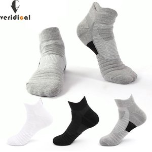 Wholesale thick cotton sport socks resale online - Athletic Sport Ankle Boat Socks Cotton Thick Outdoor Basketball Bike Running Breathable Non Slip No Show Socks EU