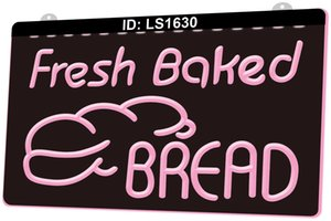 Wholesale bakery bread for sale - Group buy LS1630 Fresh Baked Bread Bakery Shop D Engraving LED Light Sign Colors Retail Free Design