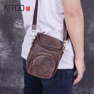 Wholesale bag vertical resale online - HBP AETOO Mad horse leather men s shoulder bag men s cowhide slant bag casual manual retro bag vertical men s postman bag