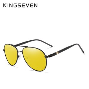 regenlinse großhandel-Sonnenbrille HD Night Day Sonnenbrille Gläser Polarized Anti Blend Rain Kingseven Nacht Fahren Vision Mens Yellow Linse Outdoor Shxax