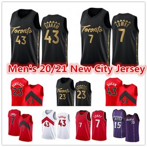 ingrosso pullover di pallacanestro rosso-Uomo nuovo rosso Kyle Lowry Pascal Siakam Jersey Fred Vanvleet Vince Carter Tracter McGrady Black City Basketball Jerseys
