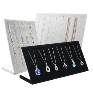 Wholesale show shelf for sale - Group buy Necklace Bracelets Stand Display Full Velvet Jewelry Rack Showing Stand Storage Different Colors Show Shelf WH