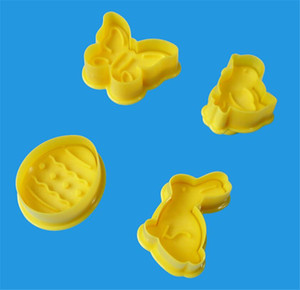 Wholesale egg biscuit for sale - Group buy Hot Dining Home set Butterfly Rabbit Chick Easter Egg Shape Animal Plastic Fondant Cookie Cutter Biscuit Cake Mold Cake Decoration
