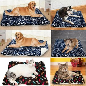 Wholesale heated dog houses resale online - Large Soft Warm Dog Cat Pet Mat Bed Pad Self Heating Rug Thermal Washable Mats Dog Cat House