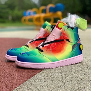 meilleur basket-ball de couleur achat en gros de-news_sitemap_homeBest Gradient Rainbow J Balvin S og Mens Basketball Chaussures Jumpman Colires y Vibras Teams Type Multi Color Rainbow Hommes Baskets