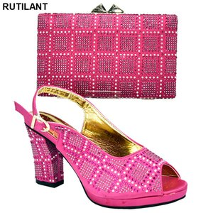 Wholesale african shoes and bags set resale online - Latest Design African Women Wedding Shoes and Bag Set Decorated with Appliques Women Shoes and Bags To Match Set Sale Party Shoe C0202
