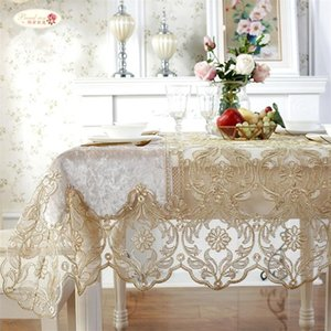 Wholesale sofa tables for sale - Group buy Proud Rose European Luxury Table Cloth Lace Yarn Tea Table Cover Sofa Towel Home Decoration TV Cabinet Rectangular Tablecloths LJ201223