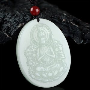 Wholesale jade buddha hand pendant for sale - Group buy crafts Xinjiang Hetian Jade life Buddha thousand hands Guanyin Bodhisattva pendant male and female mouse auspicious Necklace