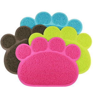Wholesale bedding mat resale online - Pet Dog Mat Pad Paw PVC Bed Dish Placements Litter Mat Pet Food Water Feed Placement Pets Carpet Pet Accessories GWB4527