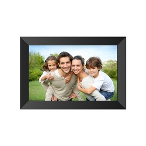 Wholesale photos frames resale online - NEW Photo frame Digital Frame inch IPS full touch screen WIFI App sharing photos Android system advertising machine