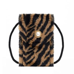 Wholesale plush animal handbags resale online - Vintage Small Pearl Designer Bag Animal Prints Sac Women s Shoulder Crossbody Bags Plush Purses And Handbags Female Phone Bag