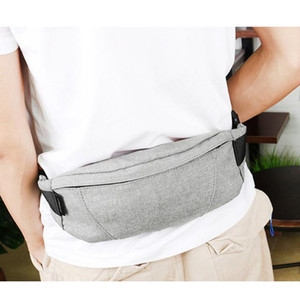 Wholesale belt purse for men resale online - Fanny Pack Black Waterproof Money Belt Bag Male Waist Bags Cigarette Case for Phone Men Purse Teenager s Travel Wallet Belt