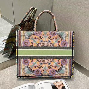 Wholesale can lighting for sale - Group buy Multicolor In Lights Embroidery BOOK TOTE can Customizable name top quality Colorful Book tote bag large capacity Travel Canvas shopping bag