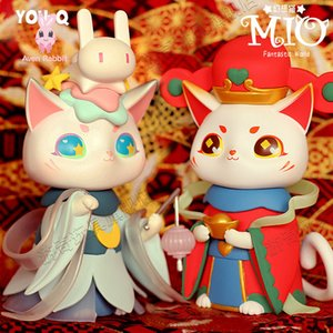 Wholesale anime pvc figure cat resale online - Sell Well Authentic MIO Dessert Cat Season Blind Box Toys Guess Bag Blind Bag Toys Anime Figures Caja Ciega Cute Model Doll