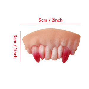 Wholesale shocker toys resale online - 10pcs Set Funny Denture Teeth Halloween Decoration Prop Toy Practical Jokes Interesting Prank Horror Fun Shocker Novelty Gadget PPD3413