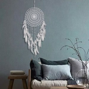 traumfänger indian großhandel-Handgewebte Tapisserie Net Indian Dreamcatcher Home Hotel Wanddekoration Tapisserie Multiple Styles Select Seil Feder Weberei HHE3399