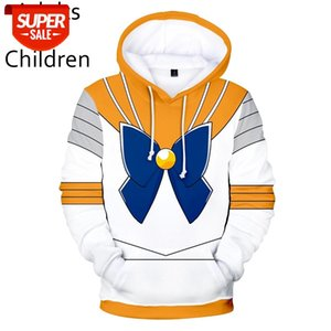 ingrosso felpe con cappuccio per bambini-3D Sailor Moon Mens Moda donna Felpa con cappuccio Mens Bambini da donna Felpe Felpe Comiche Caratteri Comic Childrens Hot Yellow White Felpa DC92