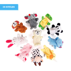 Wholesale animal puppet finger props resale online - Mini Animal Finger Baby Plush Toy Finger Puppets Talking Props Animal Group Stuffed Plus Animals Stuffed Animals Toys Gifts Frozen