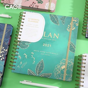 Wholesale weekly plan resale online - B5 Flower Agenda Diary Spiral and Notebook Journals Kawaii English Pages Notepad Daily Weekly Plan Schedule Book Stationery
