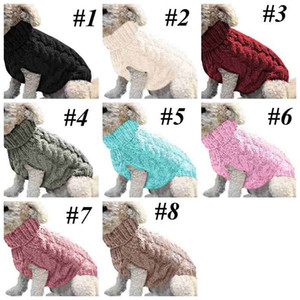 Wholesale sweaters for cats for sale - Group buy Warm Dog Cat Sweater Clothing Winter Turtleneck Knitted Pet Cat Puppy Clothes Costume For Small Dogs Cats Outfit Vest LLS65