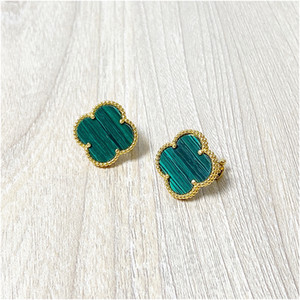 Wholesale leaf clover accessories resale online - Titanium Four Leaf Clover Red Love Stud Earrings Gold Earrings Color Studs Fashion Accessories Jewelry With Box With Stamp