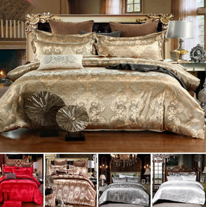 ingrosso coperte di jacquard di lusso-Designer Letto Bed Bedry Set Luxury Home Jacquard Cover Duvet Pillowcase Twin Full Queen King Size Bed BedClothes